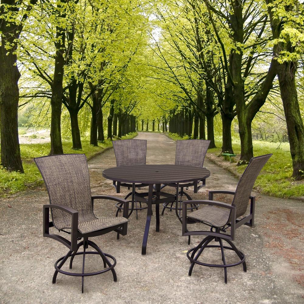 Homecrest Havenhill 5 Piece Balcony Set With Sorrento Table    HOMECREST HAVENHILL SET2