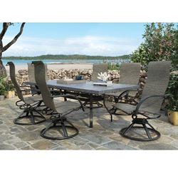 Homecrest Palisade Sling 7 Piece patio Dining Set with Slate Table - HC-PALISADE-SET1