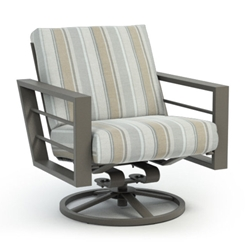 Homecrest Quick Ship Sutton Cushion Low Back Swivel Rocker Chat Chair - Q4590A