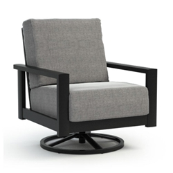 Homecrest Quick Ship Elements Cushion Swivel Rocker Chat Chair - Q5190A