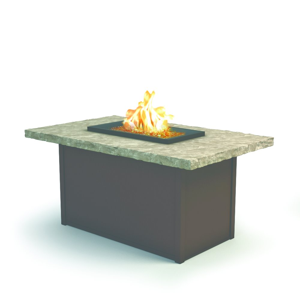 "Homecrest Sandstone 32"" x 52"" Chat Fire Pit - 893252XCSS"
