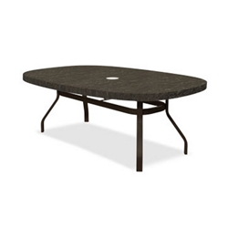 Homecrest Sandstone 44 x 67 inch Boat Dining Table with Angled Legs - 384467DSS