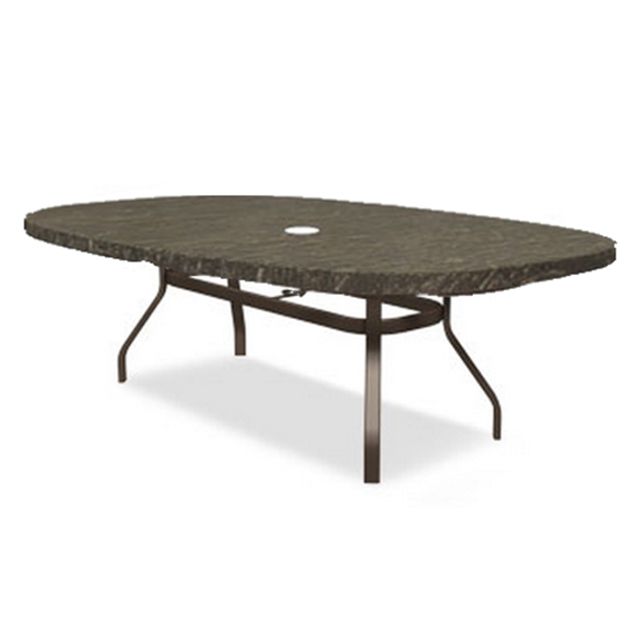 Homecrest Sandstone 47 x 84 inch Boat Dining Table with Angled Legs - 384484DSS