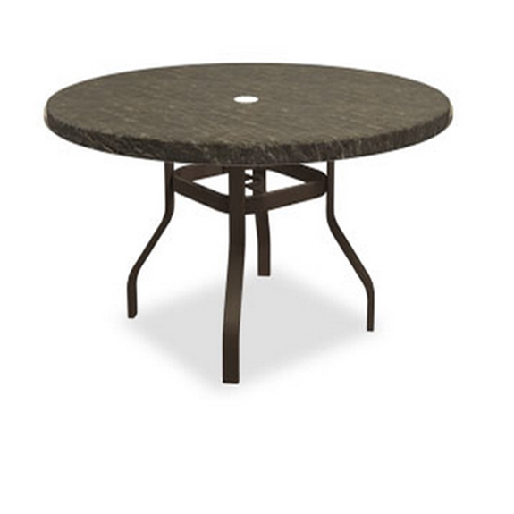 Homecrest Sandstone 54 inch round Balcony Table with Angled Legs - 3854RBSS