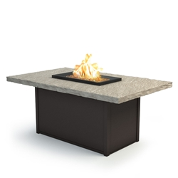 "Homecrest Slate 36"" x 60"" Chat Fire Pit - 893660XCSL"