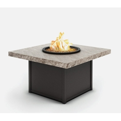 "Homecrest Slate 42"" Square Chat Fire Pit - 8942SCSL"