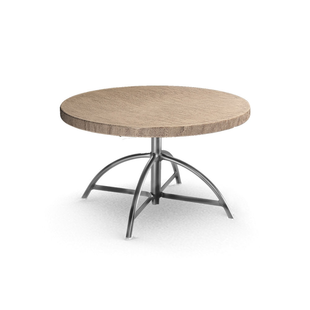 Homecrest Slate 30 Round Table With Adjustable Base 1330b C0030rsl