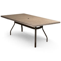 Homecrest Slate 42 inch by 82 inch Rectangle Balcony Table - 374282BSL