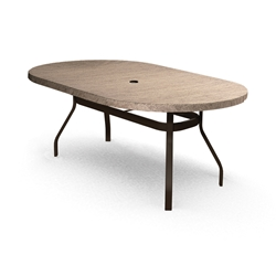 Homecrest Slate 44 inch by 84 inch Oval Balcony Table - 374484BSL