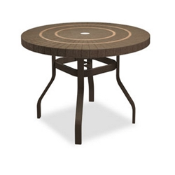 Homecrest Sorrento 42 inch round Balcony Table with Angled Legs - 3842RBSR-NU