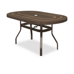 Homecrest Sorrento 44 x 67 inch Oval Balcony Table with Angled Legs - 384467BSR