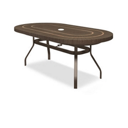 Homecrest Sorrento 44 x 84 inch Oval Balcony Table with Angled Legs - 384484BSR