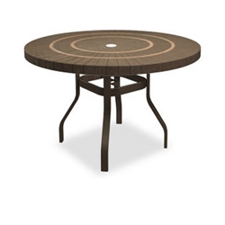Homecrest Sorrento 54 inch round Balcony Table with Angled Legs - 3854RBSR