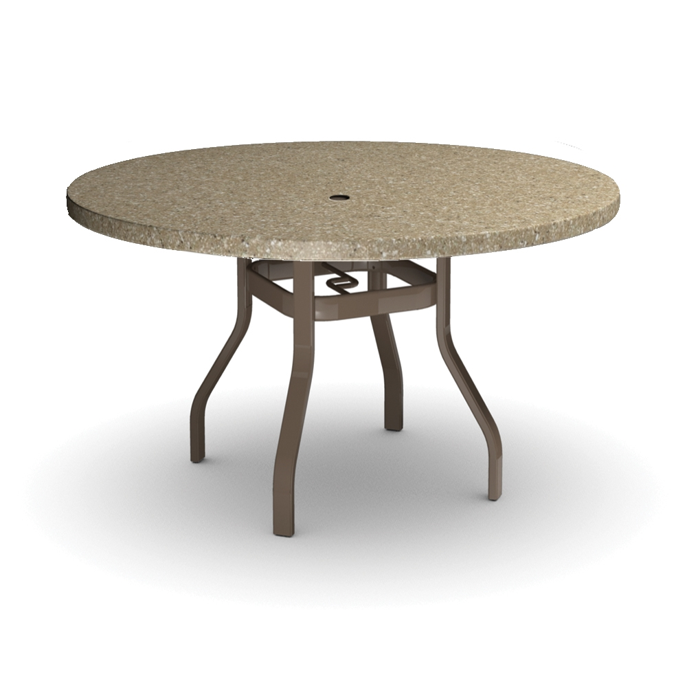 Homecrest Stonegate 54 inch round Balcony Table - 3754RBSG