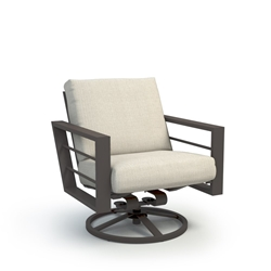 Homecrest Sutton Low Back Cushion Swivel Rocker Chat Chair - 4590A