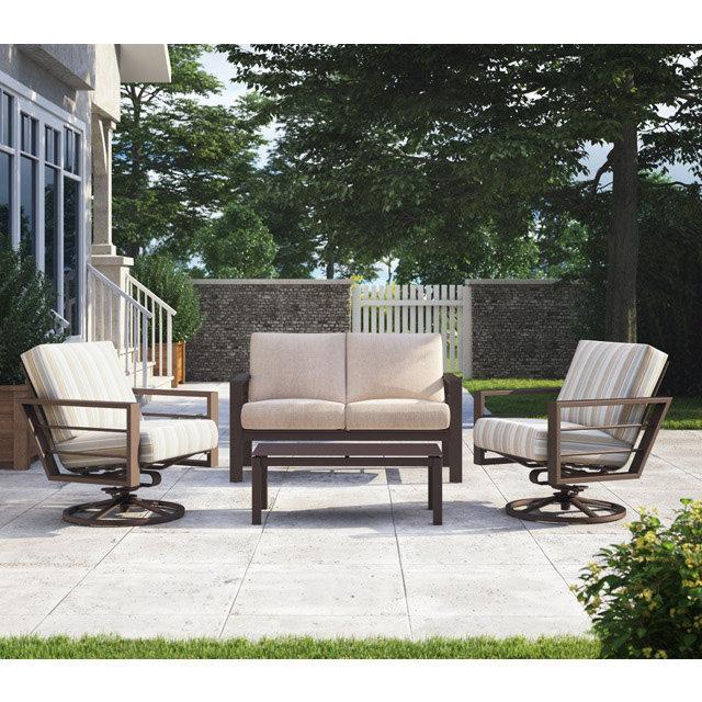 Swivel Rocker Lounge Chair Patio Set