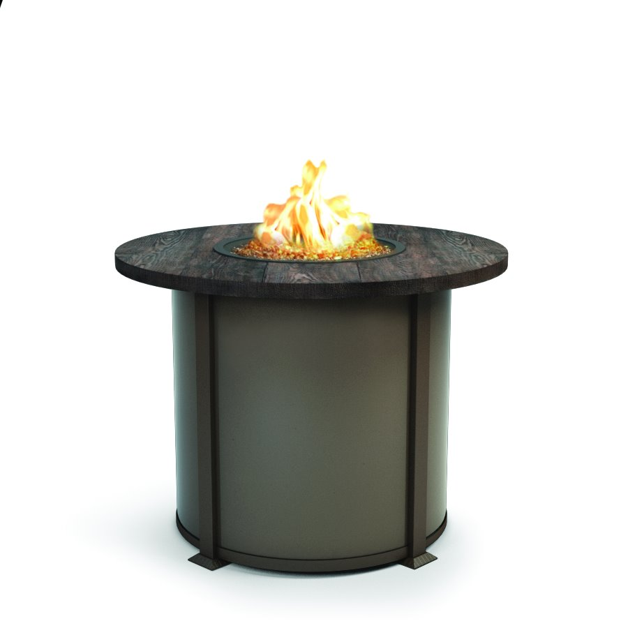 "Homecrest Timber 42"" Balcony Round Fire Pit - 4642BTM"