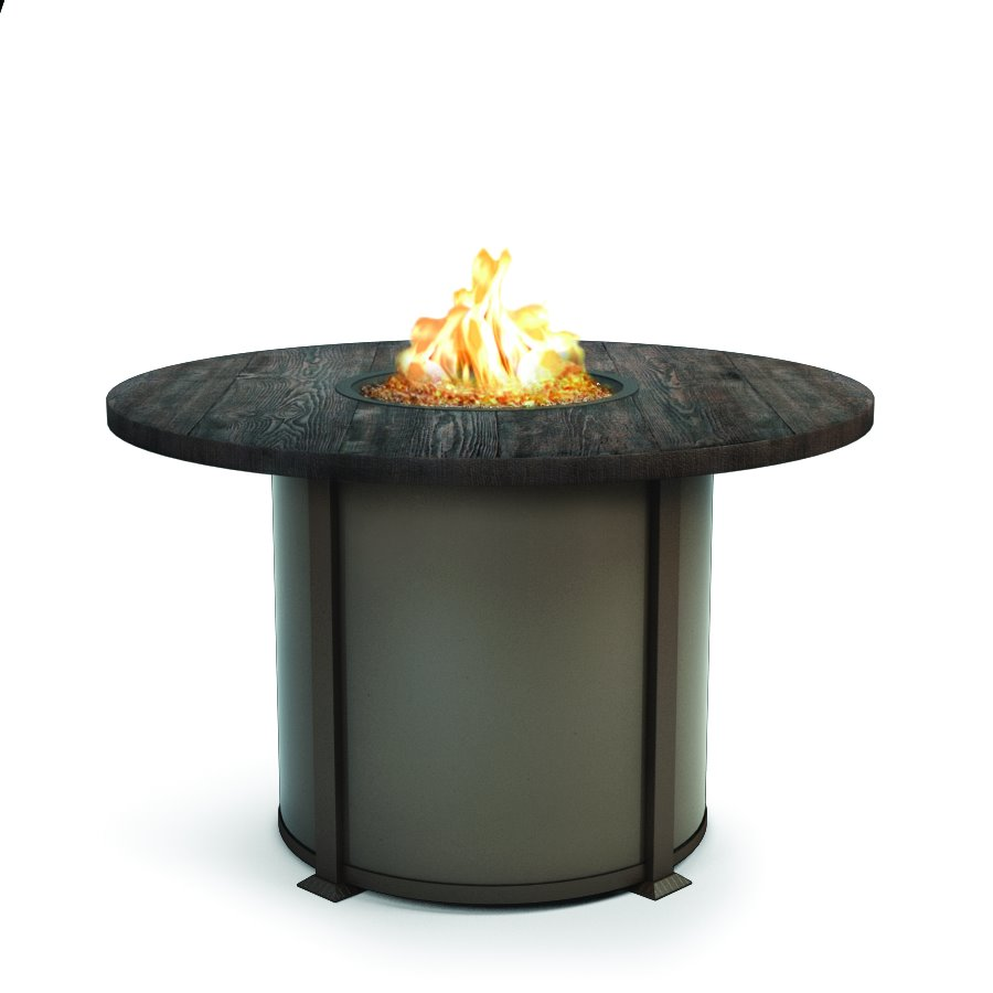 "Homecrest Timber 54"" Balcony Round Fire Pit - 4654BTM"