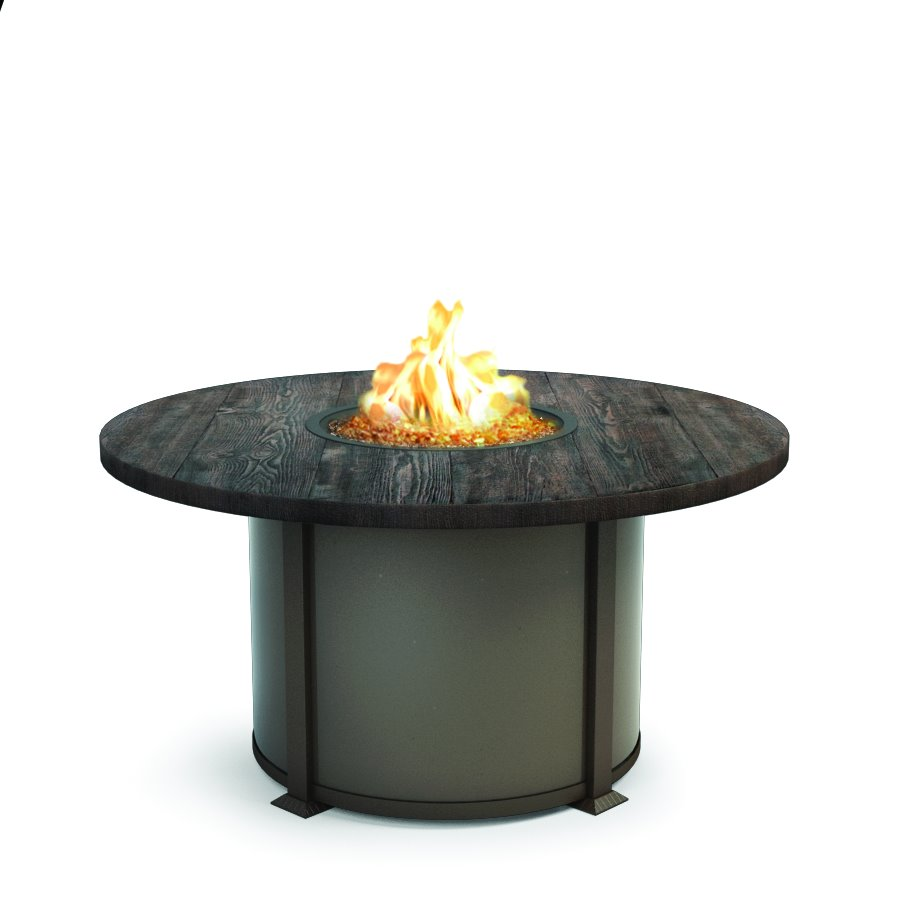 "Homecrest Timber 54"" Round Dining Fire Table - 4654DTM"