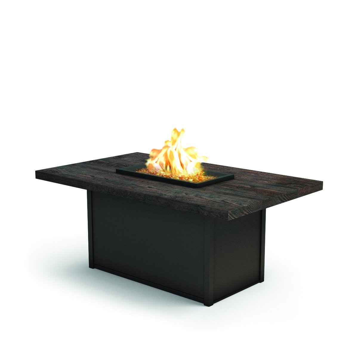 "Homecrest Timber 36"" x 60"" Rectangular Chat Fire Pit - 893660XCTM"