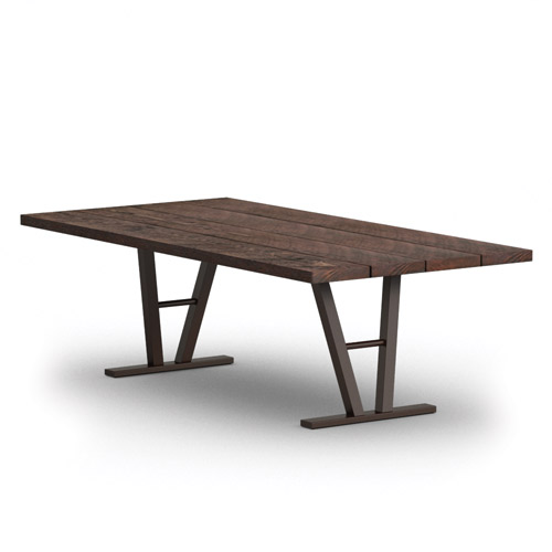 Homecrest Timber 42 Inch x 84 Inch Dining Table w/ Architectural Base - 354284D