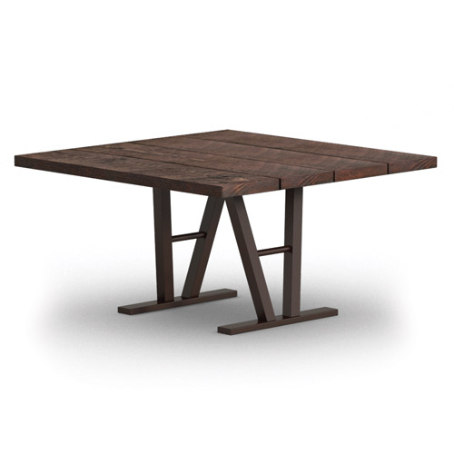 Homecrest Timber 48 Quot Square Dining Table W Architectural