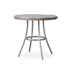 "Lloyd Flanders All Seasons 33"" Round Bistro Table with with Taupe Glass - 124032"