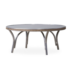 "Lloyd Flanders All Seasons 33"" Round Cocktail Table with Taupe Glass - 124044"