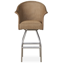 Lloyd Flanders All Seasons Swivel Bar Stool with Padded Seat - 124309