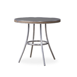 "Lloyd Flanders All Seasons 33"" Round Bistro Table with Charcoal Glass - 124332"