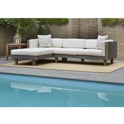 Lloyd Flanders Catalina Outdoor Wicker L-Sectional with Chaise - LF-CATALINA-SET2