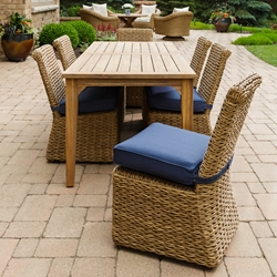 Lloyd Flanders Cayman Patio Dining Set for 6 - LF-CAYMAN-SET2