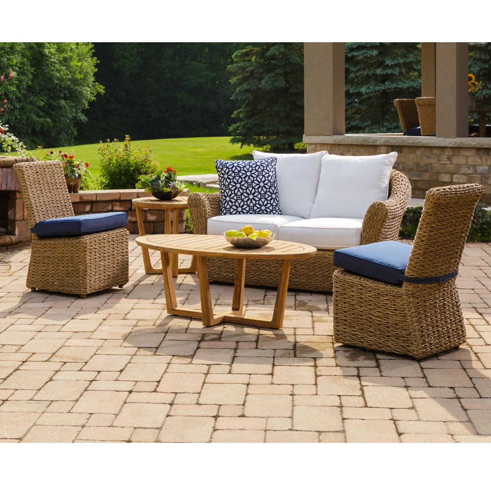 Lloyd Flanders Cayman Wicker Loveseat Patio Set - LF-CAYMAN-SET7