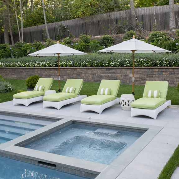 Lloyd Flanders Loom Wicker Pool Chaise Set - LF-CHAISE-SET2