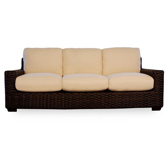 Lloyd flanders contempo wicker patio lounge set with sofa lf contempo set5 - Contempo wicker outdoor furniture ...