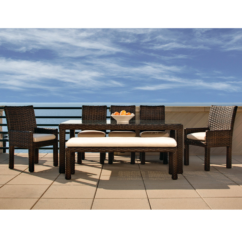 Lloyd Flanders Contempo Modern Wicker Dining Set - LF-CONTEMPO-SET11