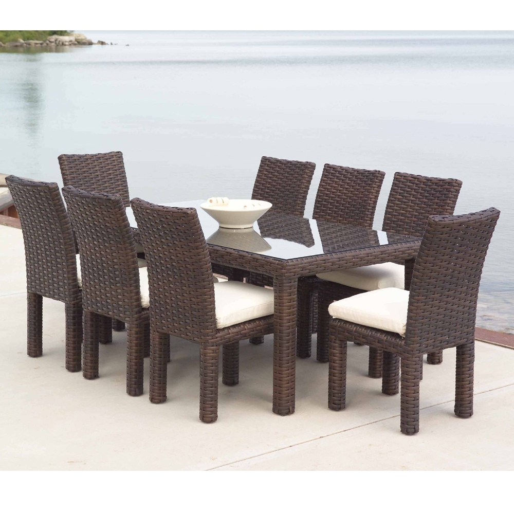 lloyd flanders contempo 40 x 72 woven vinyl wicker dining table 38072. Black Bedroom Furniture Sets. Home Design Ideas