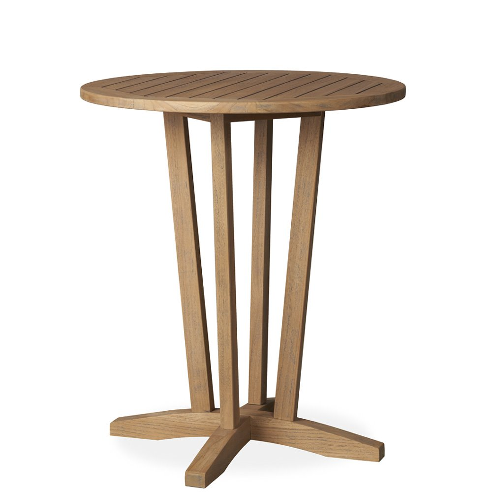 "Lloyd Flanders Teak 30"" Round Balcony Table - 286330"