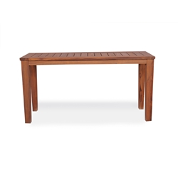 Lloyd Flanders Rectangular Tapered Leg Teak Console Table - 286449