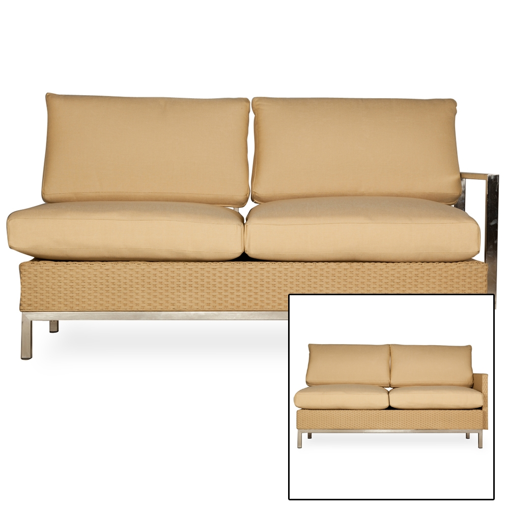 fabric recliner chair lloyd flanders elements u shaped wicker sectional set lf 15188 | 203348 203048