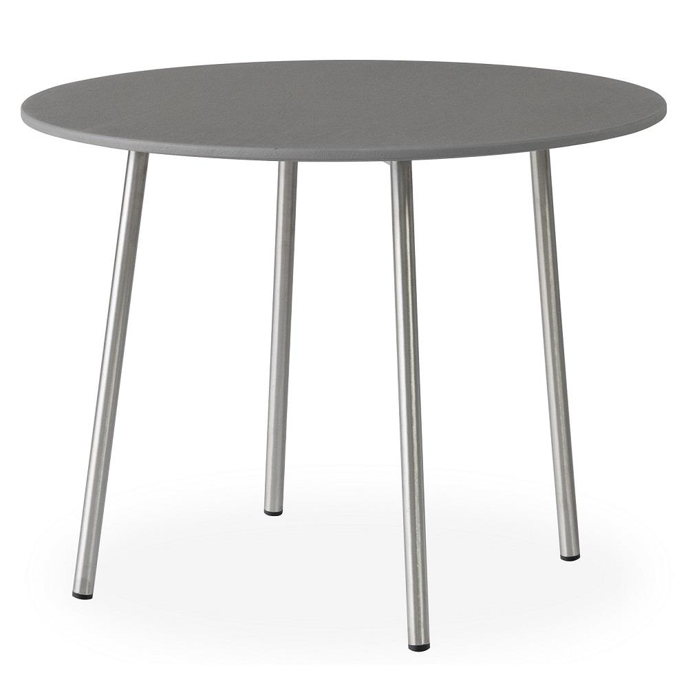 "Lloyd Flanders Elevation 24"" Round End Table with Light Gray Corian Top - 306043"