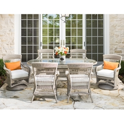 Lloyd Flanders Fairhope 7 Piece Wicker Patio Dining Set - LF-FAIRHOPE-SET2