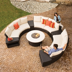 Lloyd Flanders Flair Curved Sectional Sofa Set - LF-FLAIR-SET3