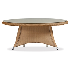 Lloyd Flanders Generations 48 inch Round Conversation Table w/Lay-On Glass  - 128041