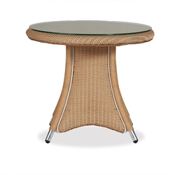 Lloyd Flanders Generations Round End Table w/Lay-On Glass Top - 128043