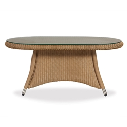 Lloyd Flanders Generations Oval Cocktail Table w/Lay-On Glass Top - 128044