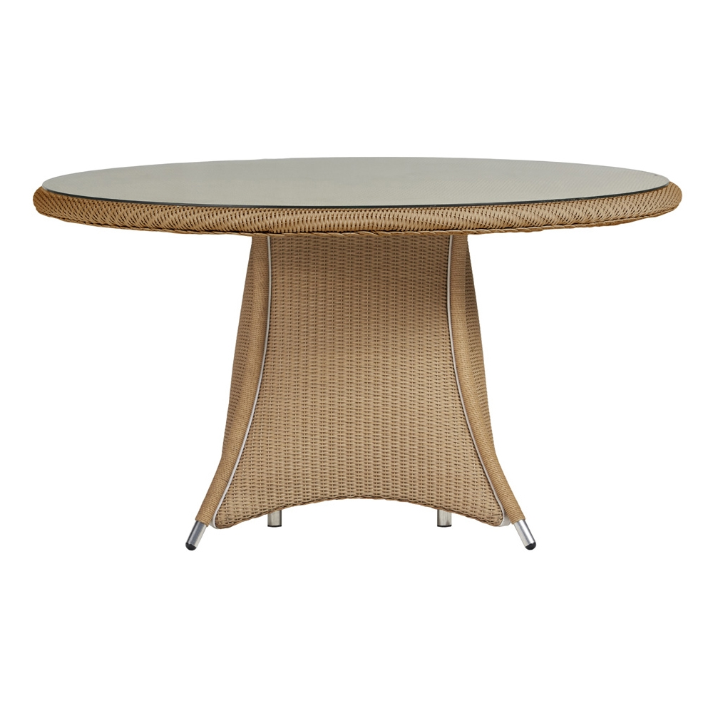 Lloyd Flanders Generations 54 inch Round Dining Table w/Lay-On Glass Top - 128054