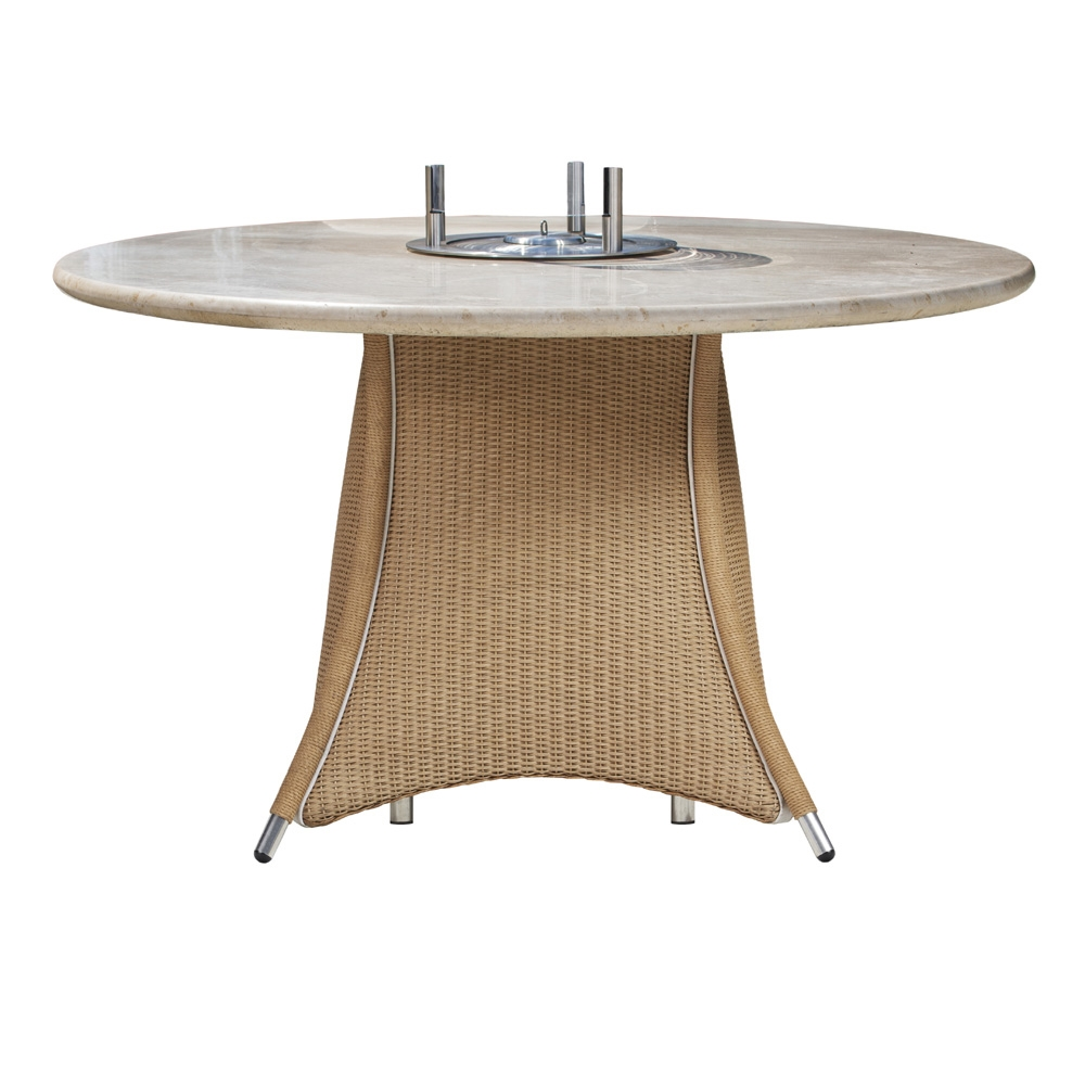 Lloyd Flanders Generations 48 inch Round Dining Fire Table - 128099