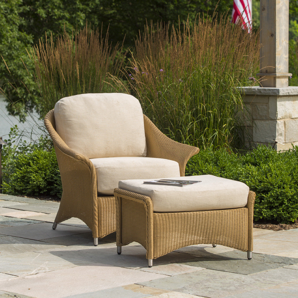 Lloyd Flanders Generations Wicker Lounge Chair and Ottoman Set - LF-GENERATIONS-SET11