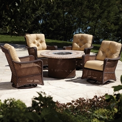Lloyd Flanders Grand Traverse Fire Pit Chat Set - LF-GRANDTRAVERSE-SET12